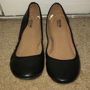 Gently worn black flats